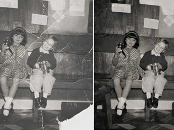 restore old photos - torn pictures