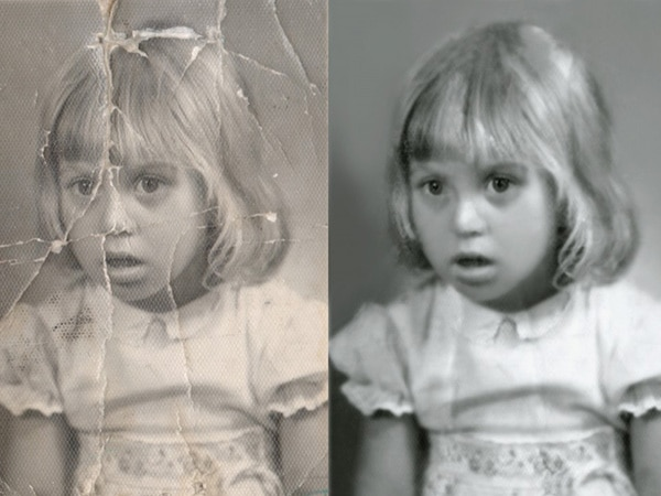 restore old photos - recolour old photos