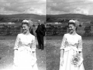 Photo Restoration Wedding Photo